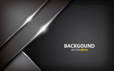 creative metallic gray innovation concept. black background vector