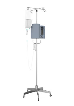 Medical IV Poles Stand Isolated