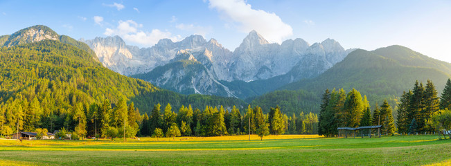 Mountain landscape next to Kranjska Gora in Slovenia Wall mural