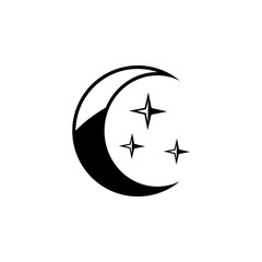 crescent moon icon. Element of weather icon. Premium quality graphic design. Signs and symbols collection icon for websites, web design, mobile app