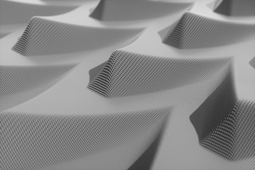 An abstract voxel black background with a carbon sense of technology.3d rendering.