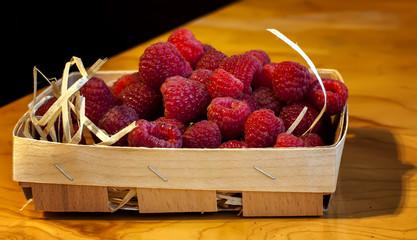 Ripe berry raspberries