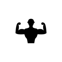 hardened person icon. Element of sport icon for mobile concept and web apps. Isolated hardened person icon can be used for web and mobile. Premium icon