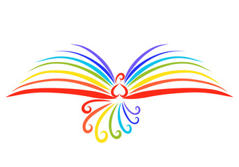 The flight of a beautiful rainbow bird, a miracle book