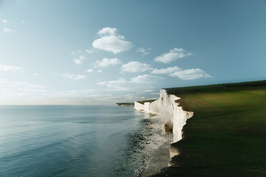 White Cliffs, Dover England, Seven Sisters