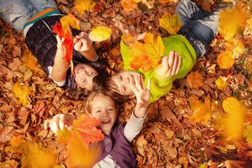 happy autumn children