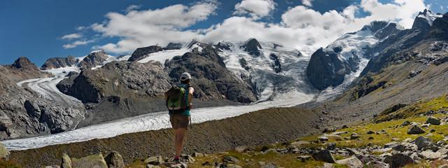 gruppo del Bernina dalla capanna Boval, CH
