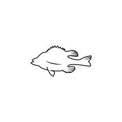 a fish icon.Element of popular sea animals icon. Premium quality graphic design. Signs, symbols collection icon for websites, web design,