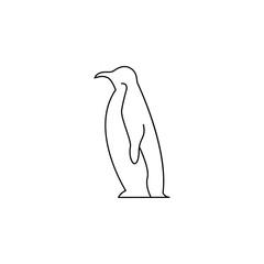 penguin icon.Element of popular sea animals icon. Premium quality graphic design. Signs, symbols collection icon for websites, web design,