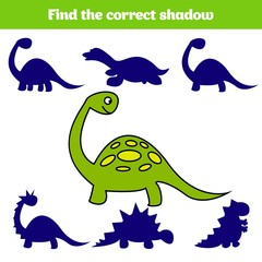 Matching children educational game. Match insects parts. Find missing puzzle. Activity for pre school years kids. Dinosaur