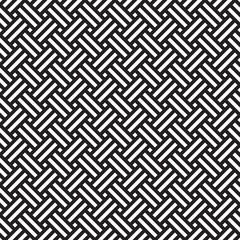 Seamless geometric abstract weave pattern background