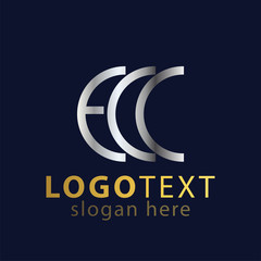 EC C Initial letter logo icon vector
