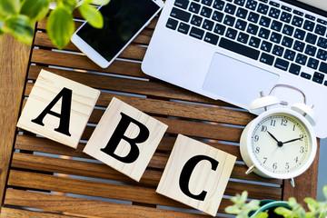 木製 ビジネスイメージ ABC