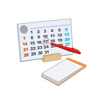 スケジュール カレンダー イラスト