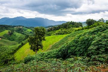 Mountain view in Nan province