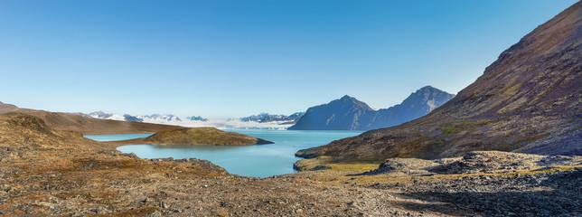 Signehamna bay, Nordvest-Spitsbergen National Park, Svalbard, Norway.