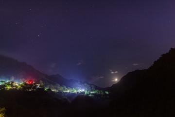 Starry sky nightview in Wulai  taipei taiwan