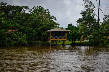 house made on the river