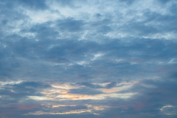 sky and clouds before sunset