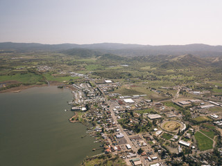 Clear Lake California Medicino Aerial Drone Shot Top Down