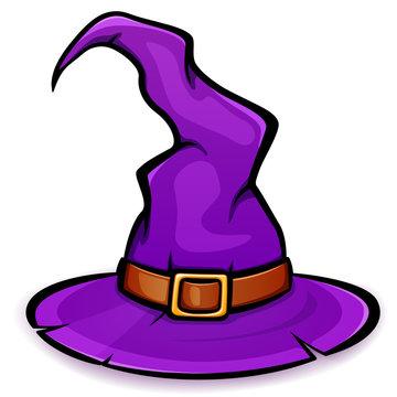 Vector halloween witch hat design