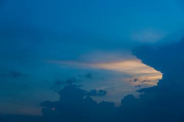 blue sky before sunset