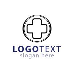 Medical Cross logo line icon vector template