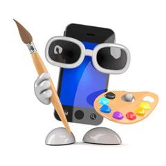 Vector 3d Smartphone loves art