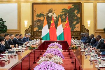 President of Ivory Coast Ouattara in Beijing
