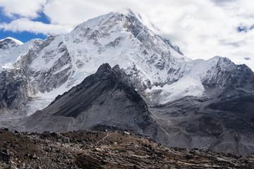 Nuptse mountain peak in Everest region, Himalayas range, Nepal