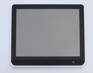 close up.digital tablet with blank screen.photo with copy space