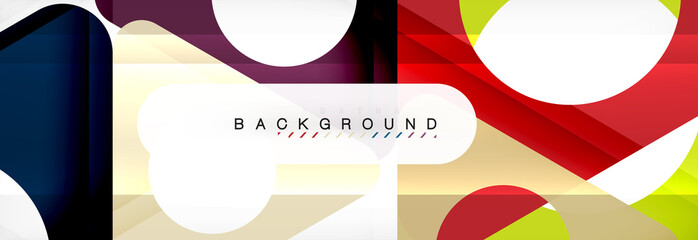 Abstract geometric background. Modern overlapping triangles. Unusual color shapes for your message. Business or tech presentation, app cover
