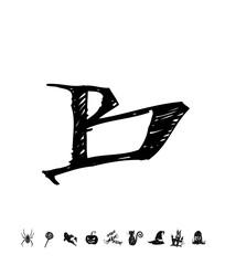 할로윈 포스터 / 손으로 그린 할로윈 그림