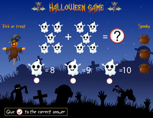 Game count the ghost in the halloween theme