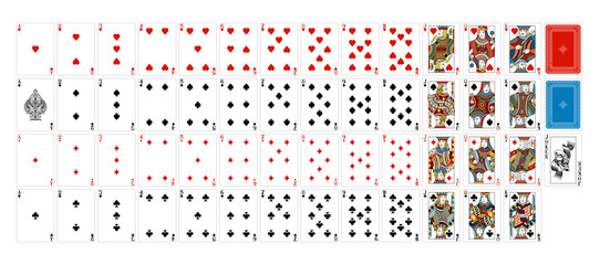 Playing Cards Deck Full Complete Wall mural