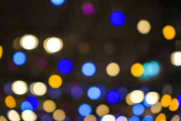 Abstract Light Bokeh Background.
