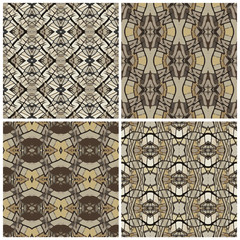 Set of the 4th abstract seamless pattern, sand and gray
