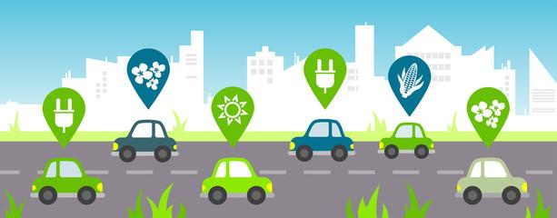 Bio fuel / alternative fuel concept - vector illustration