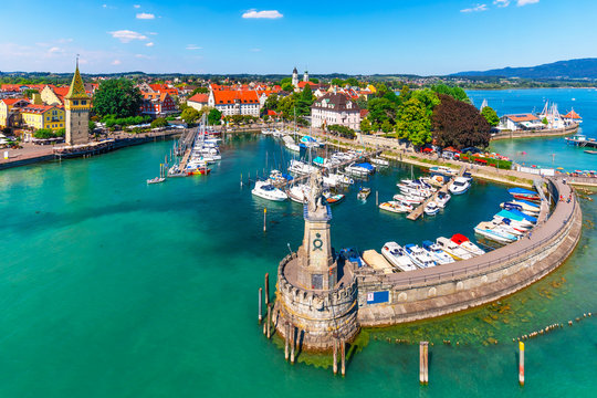 Aerial view of Lindau, Bodensee, Germany