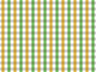 Green and Yellow Tablecloth Seamless Pattern. Two Color Gingham Design