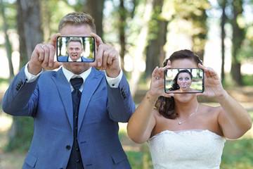 lustige Hochzeitsselfies