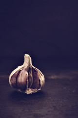 offener Knoblauch