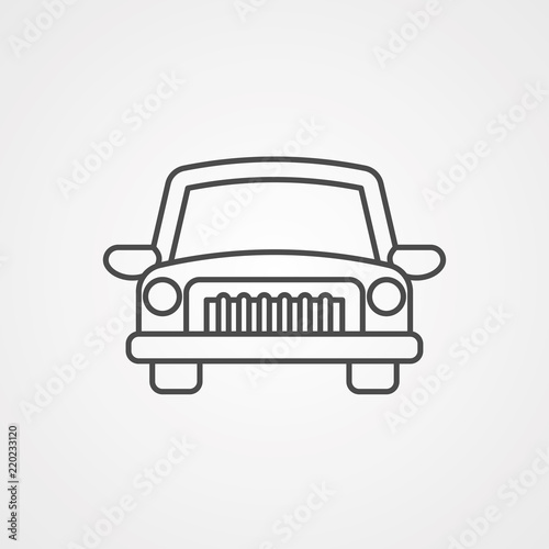 Bumper Cars Vector Icon Sign Symbol Stock Image And Royalty Free