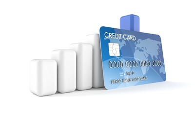 Credit card with chart