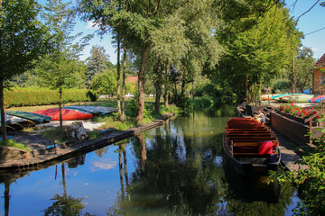 Sreewald, Boote, Kahn, Kayak, tourists