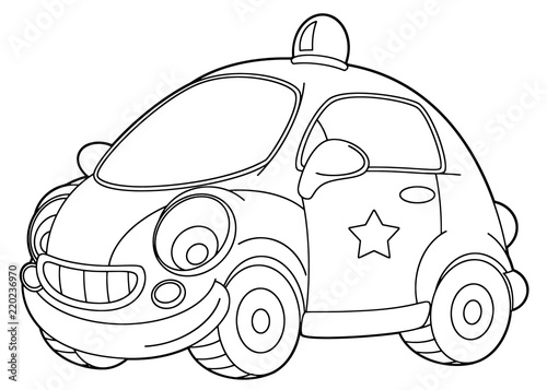 draw cartoon police car