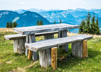Wall Mural - picnic table