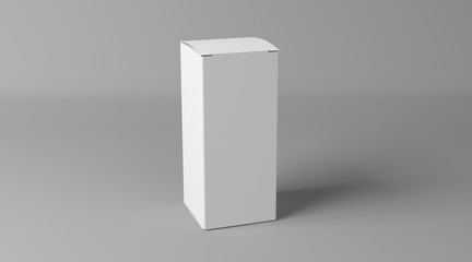Blank box made of paper. Carton 3d package. Box for supplements.