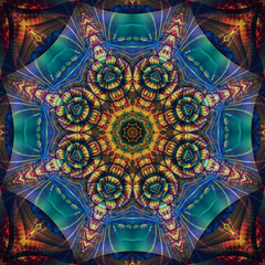 Geometric kaleidoscope colorful pattern. Abstract background. Bright illustration for design.