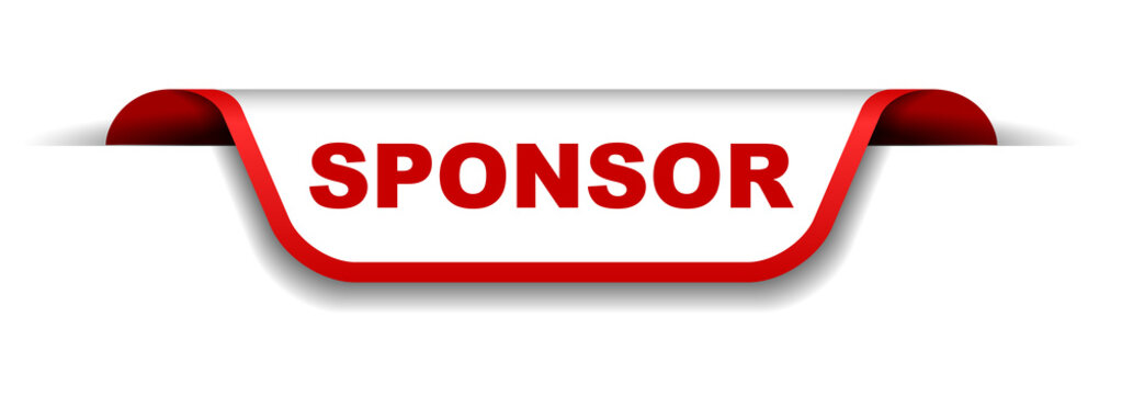 red and white banner sponsor